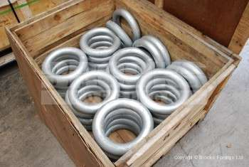 2 - Flash butt welded rings for mooring applications