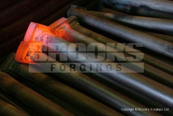 2 - Upset forging 30mm SQ SQ holding down bolts to BS7419