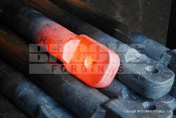 3 - Upset forging 75mm diameter torsion bar ends for rail industry