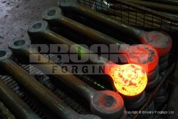13 - Upset forged 2 inch diameter shackle blanks