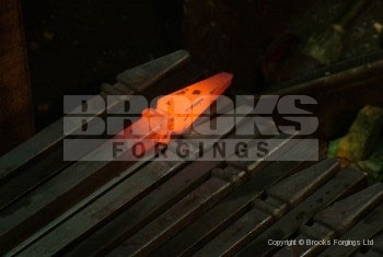 19 - Upset forged 20mm railheads on bar for heritage project