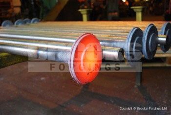 24 - Upset forged 45mm diameter torsion bar blanks