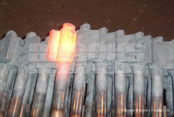 28 - Upset forging of left hand shotgun barrels