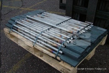 36 - Upset forged 36mm diameter stainless steel railway components
