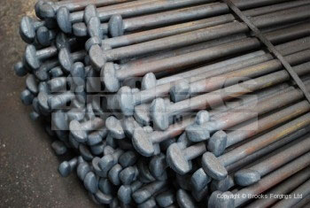 45 - Upset forging of marquee stakes in EN19 high tensile material