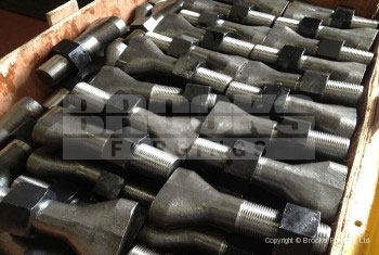 49 - Upset forged 2 inch liner bolts with 8UN thread