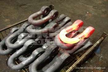 67 - Upset forged 2 inch shackle blanks