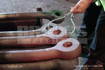 70 - Upset forged bow shackle 2 1/2 inch diameter material