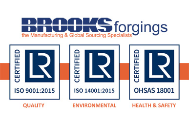 Brooks Forgings Certified for ISO 9001, ISO 14001 and OHSAS 18001 with Lloyd's Register